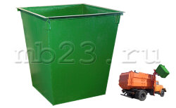 Мусорный контейнер 0,75 м3  металл 1,5 мм