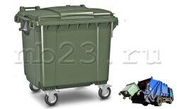 Мусорный евроконтейнер пластиковый 1,1 м3 Россия