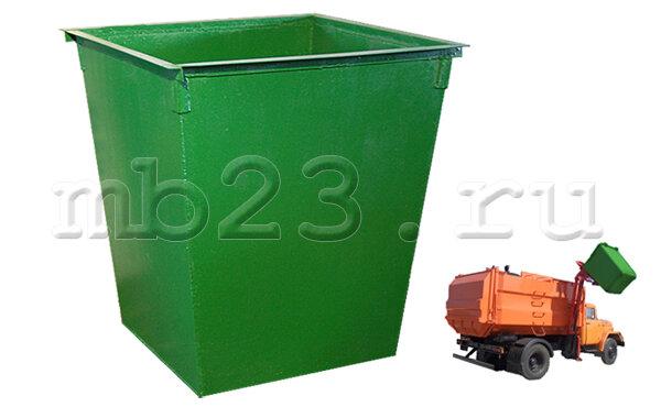 Мусорный контейнер 0,75 м3 металл 2 мм