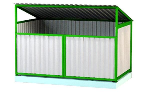 Контейнерная площадка с крышей для двух контейнеров