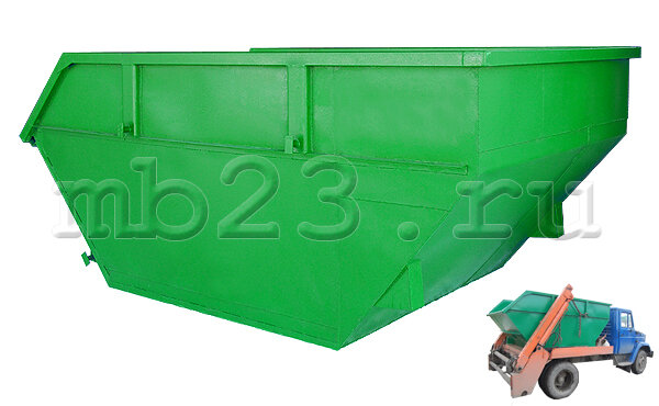 Бункер для мусора 8 м3 2/3 мм