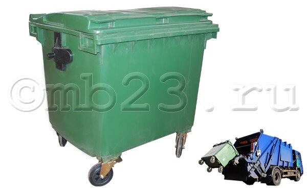 Евроконтейнер для мусора пластиковый 1,1 м3 Иран