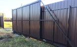 Откатные ворота 4,5 м с калиткой